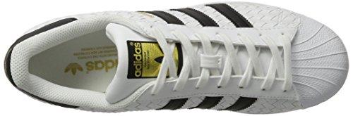 adidas Originals Superstar, Baskets Basses Mixte Adulte Blanc (Ftwwht/cblack/gold.f)
