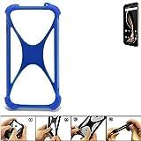 K-S-Trade Handyhülle für Allview X4 Soul Infinity Z Silikon Schutz Hülle Cover Case Bumper Silikoncase TPU Softcase Schutzhülle Smartphone Stoßschutz, blau (1x)