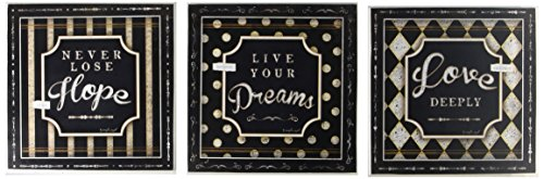 Stupell Home Decor Wandschild Hope Love Dreams, inspirierend, 3 x 0,5 x 12 cm -