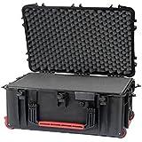 Valise en résine avec roues Plaber SRL HPRC - Noir avec mousse cubettata - HPRC2760WCUBBLK
