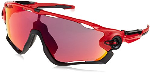 Oakley Jawbreaker 929024 31 Occhiali da sole, Rosso (Redline/Prizmroad), Uomo