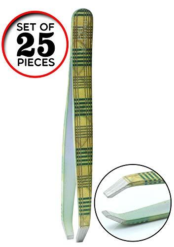 Pincette à sourcils - plumeuse - pince à épiler - Pincette colorée - 9.5 cm - Set de 25 pièces - Acier inoxydable de PBI