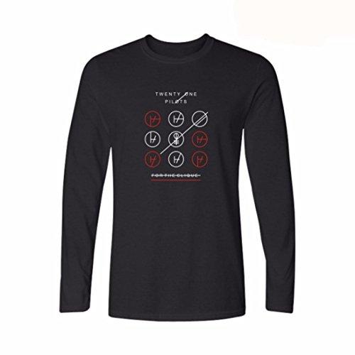 Men's Cotton Street Style Rock and Roll Sweatshirt Black
