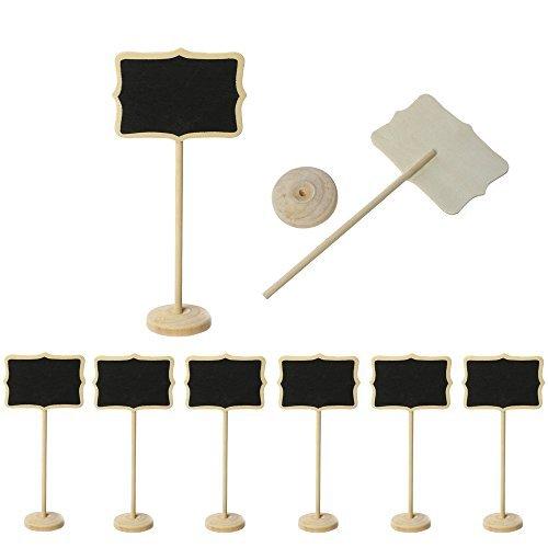 8 piezas Pizarra con la Base ST002 ideal para la decoración de mesa