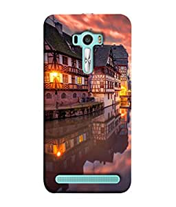 PrintVisa Designer Back Case Cover for Asus Zenfone Selfie ZD551KL (The Floating House On Water Cute Design)