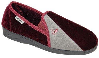 Footwear Studio Dunlop Herren Hausschuhe/Pantoffeln, verschiedene Farben erhältlich, Größen EU41-45/UK7-11 Schwarz/Grau