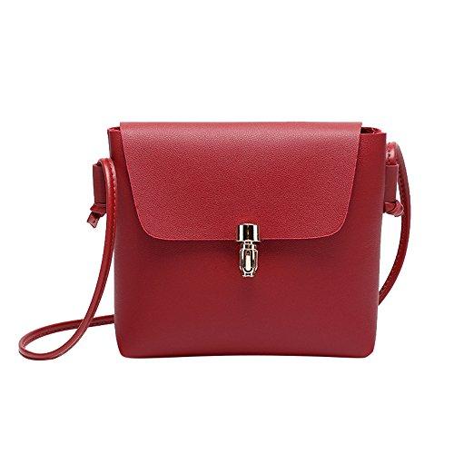 Likecrazy Damen Crossbody tasche umhängetasche handytasche Frauen Leder Satchel Handtaschen Crossbody-Tasche Tote Messenger Bag Freizeit Citytasche