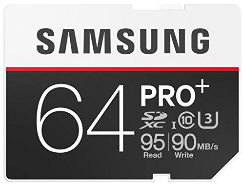 Samsung Speicherkarte SDXC 64GB PRO Plus UHS-I Grade U3 Class 10 (bis zu 95MB/s lesen, bis zu 90MB/s schreiben)