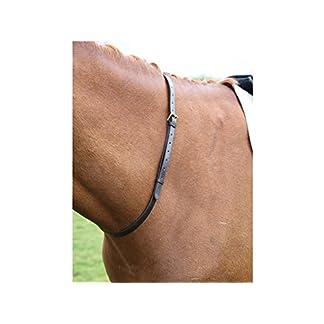 Leather Neck Straps for Horse Riding Full Black 6