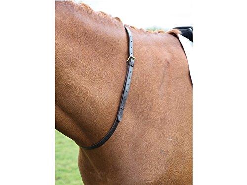Leather Neck Straps for Horse Riding Full Black 1