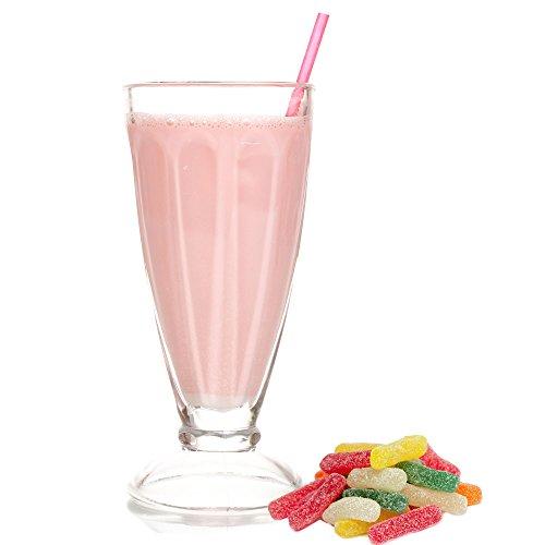 Fruchtbonbon Geschmack Milchshake Pulver Gino Gelati zum Milchshakes selber machen (333 g)