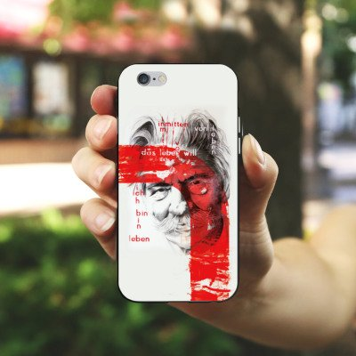 Apple iPhone 4 Housse Étui Silicone Coque Protection Albert Schweitzer Dessin Art Housse en silicone noir / blanc