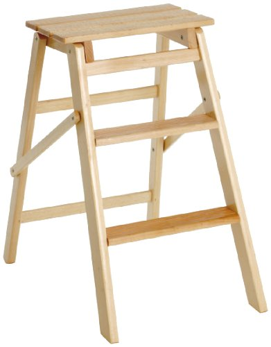 Valdomo 154 scaletta gradini jolly 3, legno naturale