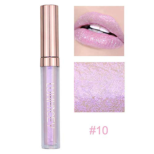 Sehr Sexy Lip Palette (Lenfesh Fashion Shining Lip Lippenstift Kosmetik Frauen Sexy Wasserdichte Lippen Lip Gloss Stick Lipgloss Lippen Enhancer Vergrößerer Sperren Extrem Feuchtigkeitsspendend)