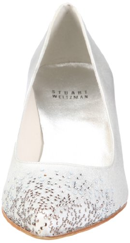 Stuart Weitzman  Courtstarlight,  Scarpe da sposa donna Argento (Silber/ice glace satin)