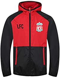 b1a8426b37b Liverpool FC Official Football Gift Boys Shower Jacket Windbreaker Red