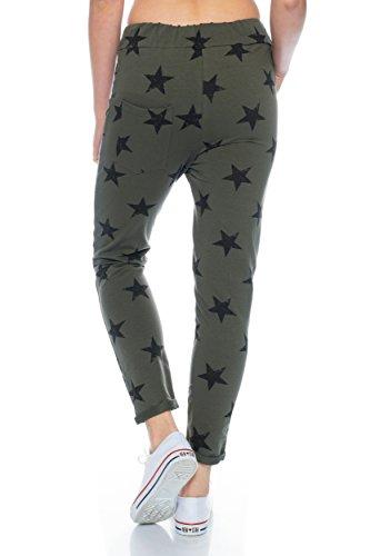 Fashionflash - Pantalon de sport - Pantalon - Femme gris gris clair taille unique Olive