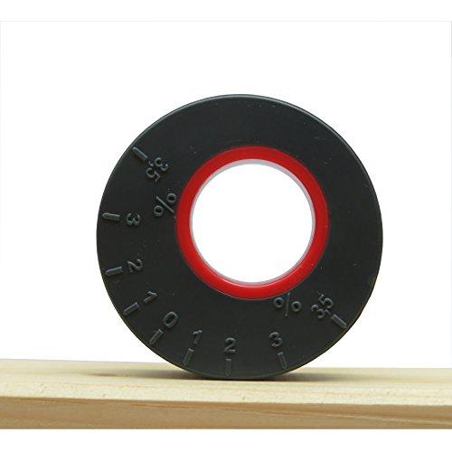 Neigungsmesser (D=45mm) Clinometer Winkelmesser (für Terrasse, Balkon, etc., oder als Wasserwaage) Tilt