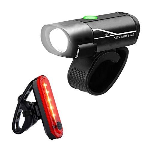 Barlingrock 2019 Nuovo Faro per Bicicletta Ricaricabile USB - Powerful Luce Anteriore a LED per Bicicletta - Lumens ad Alta Potenza per un'eccellente Sicurezza in Bicicletta - Impermeab