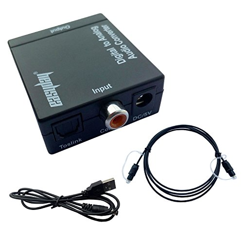 easyday Adattatore Convertitore Digitale Ottico Coassiale Toslink a RCA analogico l/r audio da 3,5mm