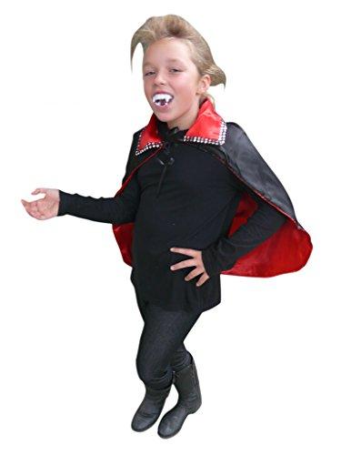 mhang Wendecape in schwarz oder rot zum wenden - für Kinder und Erwachsene! Halloweenkostüm, Einheitsgröße sowohl für Kinder ab Gr. 92 als auch Erwachsene bis Gr. M ()