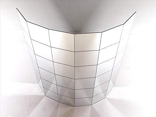 Echt 25mm Spiegel Fliesen Auf Einem sehr stark selbstklebend Flexibler Gewebeträger. Groß 30x 30cm Blatt. Geeignet Innen und Außen. Innen Design. Verwendet auf vielen Angesehenen Projekte. - Spiegel, Blätter Flexible