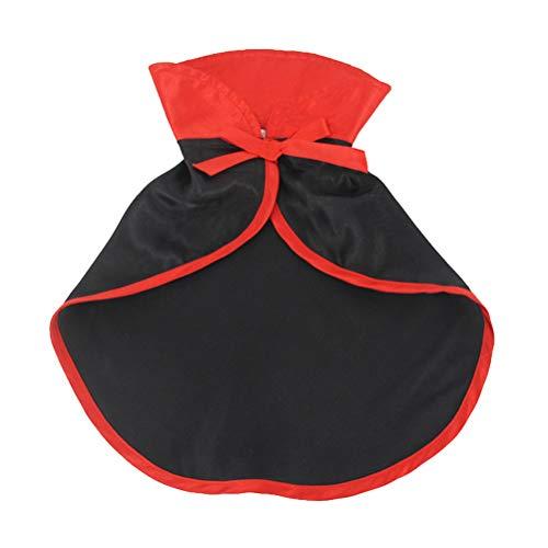UKCOCO Disfraz de Mascota, Disfraz de Halloween de Gato Capa de Terciopelo Rojo, Disfraz de Navidad de Halloween para Perros y Gatos, 28 x 29 x 0.1 cm