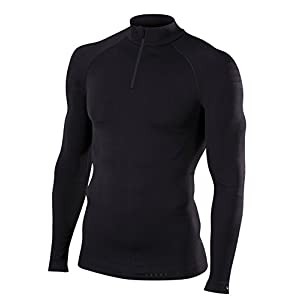 FALKE Herren Warm Zip Shirt Tight Fit Men Sportunterwäsche