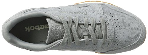 Reebok Damen Classic Leather Clean Exotics Gymnastikschuhe Grau (Flint Grey/chalk/gum)