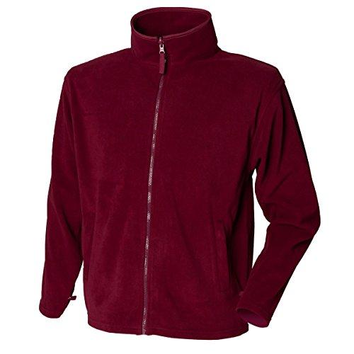 New hendury Pull en Micropolaire pour Femme Fermeture Éclair intégrale Coque Casual Polyester Vestes Haut - Rouge - XL
