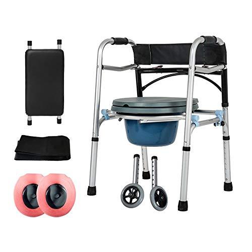 Faltbare Walker Höhenverstellbar Mit Sitz Und Tasche Aluminium Gehgestell Für Ältere Menschen Mit Behinderungen Untere Extremität Ausbildung Standard Walker - Standard-hip-kit