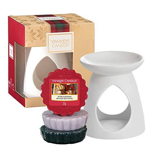 Yankee Candle Geschenkset, mit 3duftenden Wax Melts und 1Wachswärmer, Alpine Christmas Collection, in festlicher Geschenkbox
