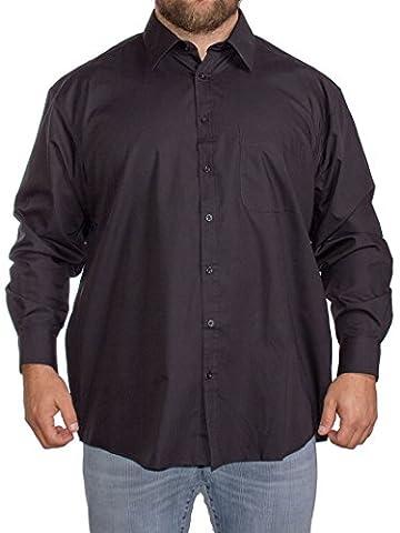 Big Mens Espionage Traditional Long Sleeve Oxford Shirt-White-7XL