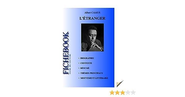 Fiche de lecture L\'Étranger (French Edition) eBook: Albert Camus ...