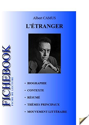 fiche de lecture l Étranger french edition ebook albert camus