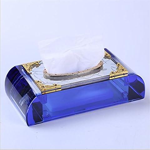 Dbtxwd Crystal Tissue Box Cover European style Creative Fashion Car