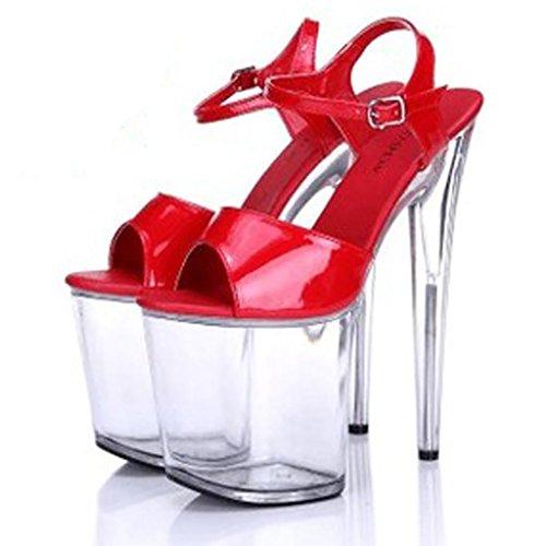 W&LMscarpe col tacco alto sandali impermeabile Super-tacchi alti scarpe modello crosta spessa pantofola Scarpe Donna sandali sul posto di lavoro Sandali Ballroom E