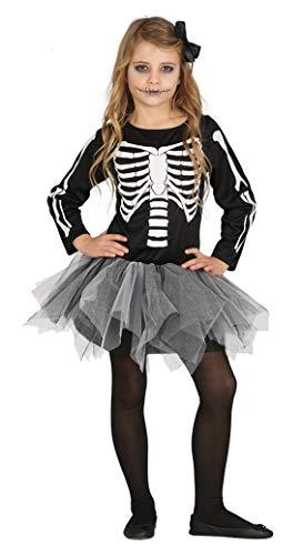Skelett Tutu Kostüm - Fiestas Guirca Skeleton Kostüm mit einem Tutu eines Kindes