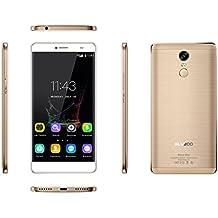 "Bluboo Maya Max - Smartphone Móvil Libre 4G 1280 x720 HD(Pantalla 6.0"", Dual Sim, Octa Core, 3GB de RAM, 32GB de ROM, Cámara 13.0Mp, WIFI, GPS, OTA, Gesto Inteligente)dorado"