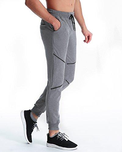 MODCHOK Herren Hosen Jogginghosen Sweatpants Freizeithosen Sporthose Trainninghose Jogger Hellgrau