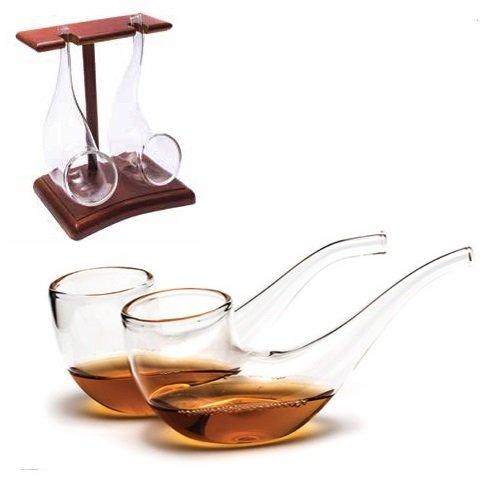 Vinology Copas de brandy Tubo toma Set con soporte de pantalla de made