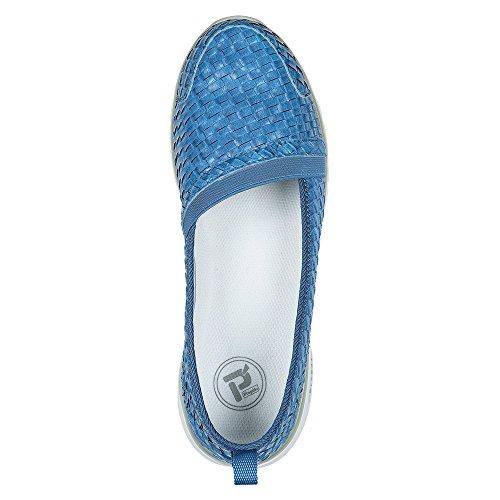Propet Travellite Slip-On Woven Femmes Large Synthétique Mocassin Ocean Blue