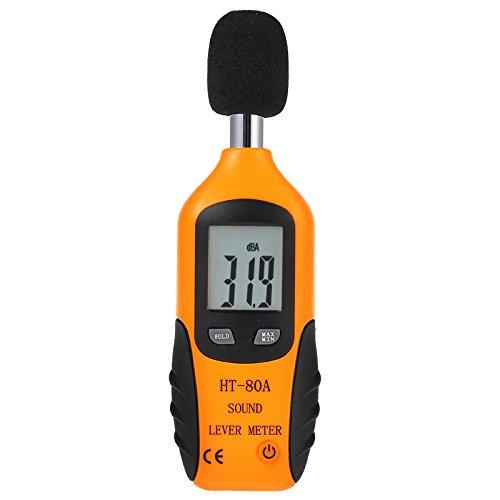 Proster Mini Digital Medior del Nivel del Ruido Decibelio Metro Monitor de Presión Tester DB Medida 40 dBA 130 dBA con la Batería