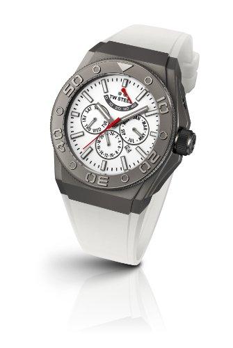 TW Steel - CE5003 - Montre Mixte - Automatique - Chronographe - Bracelet Silicone Blanc