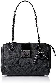 Guess Satchel Bag for Women- Dark Grey