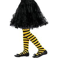 Smiffy'S 47335 Medias De Rayas De Abeja Para Niños, Amarillo / Negro, M A L - Edad 8-12 Años