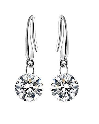 Valentine gift by Karatcart Crystal Dangle Fashion Earrings For Women (2.00 CM)