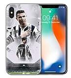 TN CASES STORE Coque iPhone X et iPhone XS Cristiano Ronaldo CR7 Football Juventus...