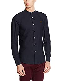 Farah Vintage Men's Brewer Slim Fit Button Down Long Sleeve Casual Shirt
