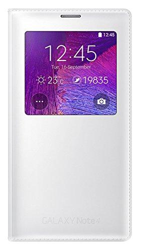 Samsung S-View Schutzhülle Case Cover mit Sichtfenster für Samsung Galaxy Note 4 - Weiß (Samsung Note 4 Flip Case S-view)